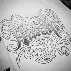 Awake #lettering #practice #inkon #aprendiz #tattoostudio
