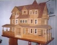 images of dollhouse made from popcycle sticks | House made of popsicle sticks