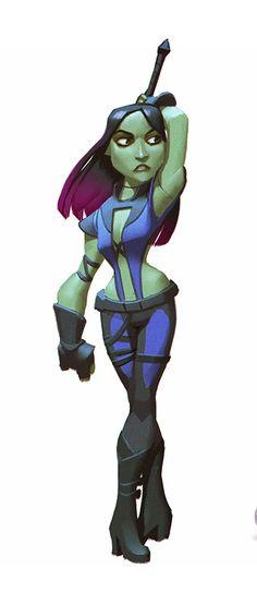 disney infinity gamora | Sam's Tasty Art: Disney Infinity: Guardians of the Galaxy