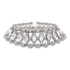 Faux Diamond Choker Necklace Silver ($8.86) ❤ liked on Polyvore featuring jewelry, necklaces, silver jewelry, silver jewellery, artificial diamond jewellery, fake diamond choker necklace and choker jewellery