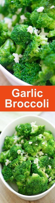 Garlic Broccoli – healthy sauteed broccoli with garlic, butter and lemon. This garlic broccoli recipe is so easy and takes 10 mins | http://rasamalaysia.com