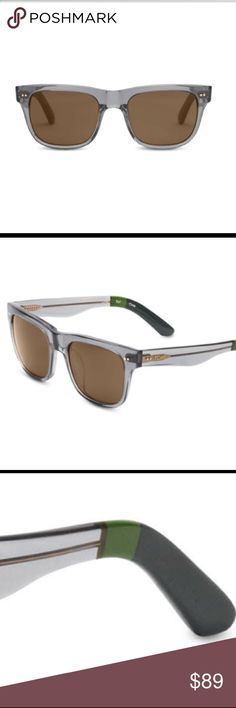 NWT - Toms James Grey Crystal Sunglasses ($139) Never been opened. Comes with case. Has solid brown lens. Tough, yet sleek - like a vintage muscle car. We've blended hard lines with beautiful, yet rugged materials for a classy, yet off-the-cuff style. 100% UVA/UVB protection. 5-barrel rivet hinges. Hand-finished acetate frames. Upsized classic shape. James Grey Crystal. Comes with box and case. Toms Accessories Sunglasses