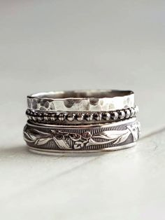 Stacking silver rings-I wear this style of ring all this time. So basic but I love it!