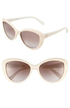 Valentino Cat's Eye Sunglasses available at Nordstrom White Sunglasses, Cat Eye Glasses, Eyeglasses, Sunnies, Eyewear, Valentino, Nordstrom, Eyes, Shoe Bag