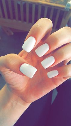 White, Acrylic Nails, Summer, Long, Tan