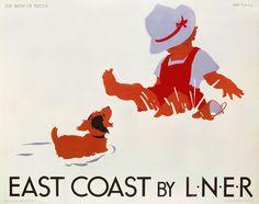 'East Coast by LNER', LNER poster, c 1935., Purvis, Tom