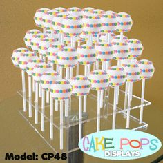 New Cake Pops Acrylic Display Stand - 3 Tiered Rack sold by Vandue Corporation Cake Pops, Cake Pop Stands, Wedding Cake Stands, Wedding Cakes, Diy Cake Pop Stand, Cake Pop Holder, Cupcake Stands, Matcha, Cake Pop Displays