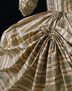 Polonaise Gown. England, late 18th century