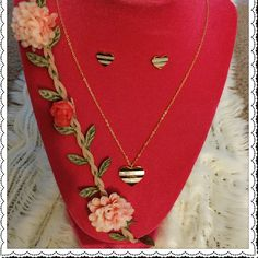 NWOT Inspired Jewelry Set  Made of high quality stainless steel. 14k gold plated won't rust and tarnish. Includes earrings and necklace.Very beautiful  Jewelry