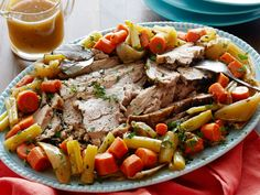 Slow-Cooker Pork Roast : You'll hardly believe this dish came out of a slow cooker. Searing the meat and coating it with a fresh-herb paste gives this roast a good