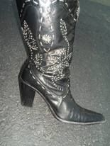 Thrifted western boots that you will wear until they fall apart!
