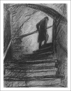 Crime and Punishment. Arte Van Gogh, Charcoal Art, Sad Art, Arte Horror, Dark Photography, Classic Literature, Art Plastique, Drawing Techniques, Aesthetic Art