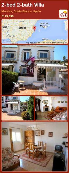 2-bed 2-bath Villa in Moraira, Costa Blanca, Spain ►€149,999 #PropertyForSaleInSpain