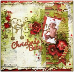 Three Layouts PLUS A VIDEO TUTORIALWith a Touch of ChristmasBy Di Garling - Di has tutorial on her Youtube channel