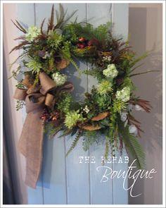 Rustique... The Rehab Boutique: Building A Wreath