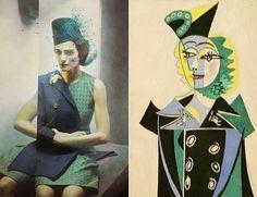 Eugenico Recuenco, SMODA, 2013 Pablo Picasso, Portrait of Nusch Eluard, 1937