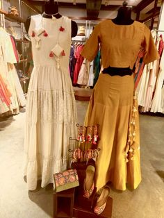 Dresses in chanderi silk and mul-cotton with beautiful embellishments