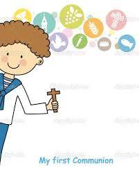 Resultado de imagen para niño en su primera comunion vector