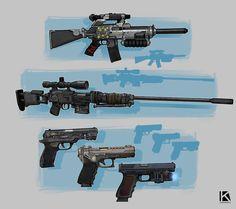 ArtStation - weapons concept, Kostya P! Sci Fi Weapons, Weapons Guns, Military Brat, Ajin Anime, Fantasy Armor, Swords, Firearms, Videogames, Avatar