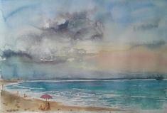 """""""Blac sea"""" Watercolour.paper Arches. Size 38*56cm."""