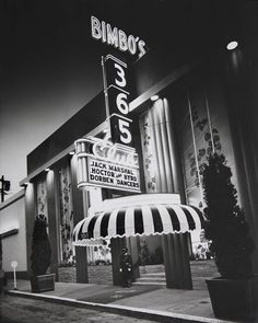 Bimbo's 365 Club1957 San Francisco California.