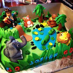 Go Diego Go Birthday Cake Made by Judy Walker