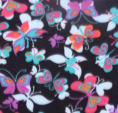 Blizzard Fleece Fabric-Butterfly Hearts