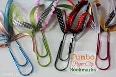 Simply This and that: Jumbo Paper Clip Bookmarks