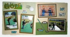 A personal favorite from my Etsy shop https://www.etsy.com/listing/270009626/golf-scrapbook-layout-golf-scrapbook