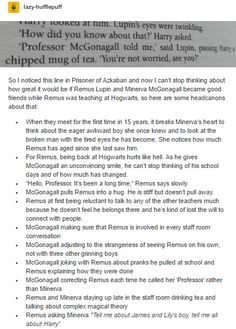 Remus Lupin and McGonagall part 1
