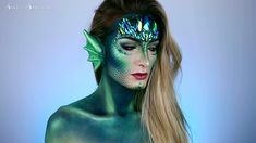 Halloween is approaching. Are you planning your scary Halloween makeup? Here's the most horrible Halloween makeup ideas. Chic Halloween, Halloween Makeup Looks, Halloween Make Up, Scary Halloween, Mermaid Halloween Makeup, Sfx Makeup, Costume Makeup, Makeup Art, Makeup Ideas