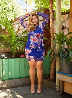 b67a4dba0b39b8 Giselle Floral Mesh Bodycon Dress Plus Size Bodycon Dresses, Fashion To  Figure, Style And