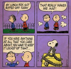 Charlie Brown and Linus.