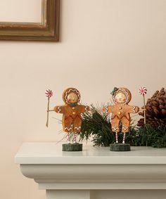 Look what I found on #zulily! Gingerbread Boy & Girl Figurine Set #zulilyfinds