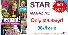 What a deal! Keep up on all the gossip and entertainment news! Grab Star Magazine for only $19.99 year! That is only $0.38 per issue!  Click the link below to get all of the details ► http://www.thecouponingcouple.com/star-magazine/ #Coupons #Couponing #CouponCommunity  Visit us at http://www.thecouponingcouple.com for more great posts!
