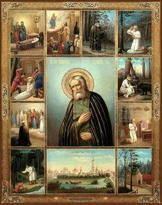 St Seraphim of Sarov Orthodox icon Religious Images, Religious Icons, Religious Art, Russian Icons, Russian Art, Church Icon, Religious Paintings, Jesus Art, Orthodox Christianity