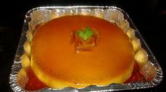 This is the best flan you will ever taste. The cream cheese takes away the egginess that most flans have. The water bath ensures that the custard does not burn and that the caramel turns into a wonderful sauce.