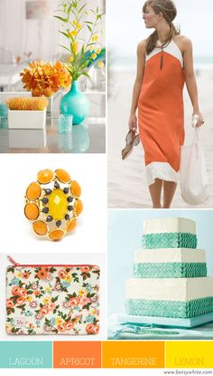we're gonna look back at weddings with these colors and LAUGH [Color Palette: Lagoon, Apricot, Tangerine, and Lemon | Flights of Fancy]