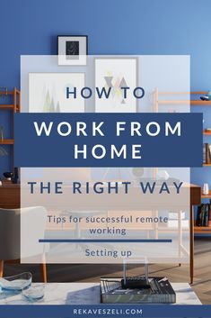 Many of us dreamed of working from the comfort of our homes, but in reality, it can be a challenge. Read my best tips on how to set up your perfect home office and stay productive while working from home. How To Stay Healthy, Home Office, Beautiful Homes, I Am Awesome, Challenges, Tips, Inspiration, Home Decor, House Of Beauty