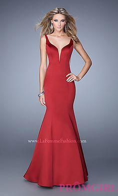 Floor Length Open Back Dress by La Femme at PromGirl.com