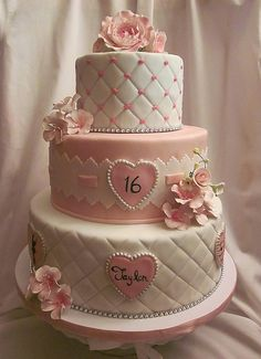 11 Sweet 16 Cakes With Colors Photo - Sweet Sixteen Birthday Cake, Sweet 16 Birthday Cake and Cute Sweet 16 Cake Gorgeous Cakes, Pretty Cakes, Amazing Cakes, Sweet Sixteen Cakes, Sweet 16 Cakes, Sweet 16 Birthday Cake, 16th Birthday, Birthday Cakes, Geek Birthday