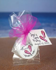 custom labelstags for spa bridal shower favors