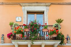 typical balcony in #Italy