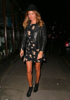 Mille Mackintosh at Caggie Dunlop's brithday bash #dailymail