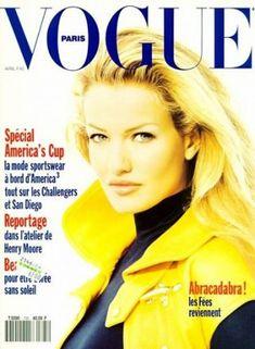 Karen Mulder Throughout the Years in Vogue Vogue Magazine Covers, Fashion Magazine Cover, Henry Moore, Vogue Paris, San Diego, Michael Thompson, Nadja Auermann, Ellen Von Unwerth, 90s Models