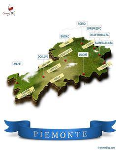 Piedmont [Piemonte] Wine Region (una rappresentazione alquanto originale:-)) #piemonte #vini