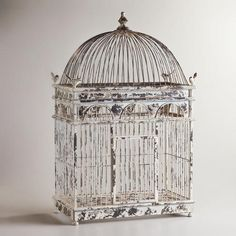 One of my favorite discoveries at WorldMarket.com: Ivory Tabletop Birdcage Decor