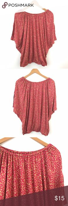 "Ann Taylor Loft Giraffe Print Pink Batwing Top S Bust: 30"" Length: 25""  Condition: No Rips; No Stains  70% Rayon 30% tencel   📦Orders are shipped within 24hrs! {Except weekends}📦  🚫No Trades🚫No Holds🚫 LOFT Tops Blouses"