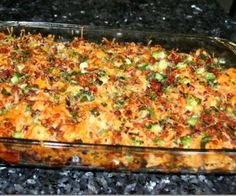 Loaded baked potato and chicken casserole = My next cheat meal after Christmas dinner!