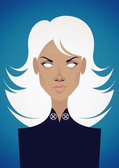 Halle Berry as Storm in X-Men, illustration by Stanley Chow, London. Character Illustration, Graphic Design Illustration, Illustration Art, Vector Illustrations, Stanley Chow, Pop Art, Pixar, Vector Portrait, Design Blog